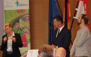 Anja Sylvester, Mario Schmidt und Philipp Hentschel (Foto: Staatskanzlei)