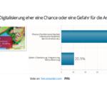 """Liveabstimmung Dialogveranstaltung Podiumsdiskussion """"Wirtschaft und Arbeit 4.0"""" (Bild: Staatskanzlei)"""