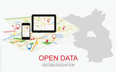 Symbolbild Open Data - Geobasisdaten