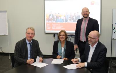 Unterzeichnung der Absichtserklärung zum Aufbau einer Schul-Cloud im Land Brandenburg