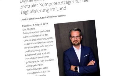 André Göbel Geschäftsführer der DigitalAgentur Brandenburg