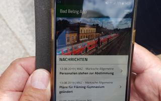 Die Bad Belzig App (Bild: Staatskanzlei)