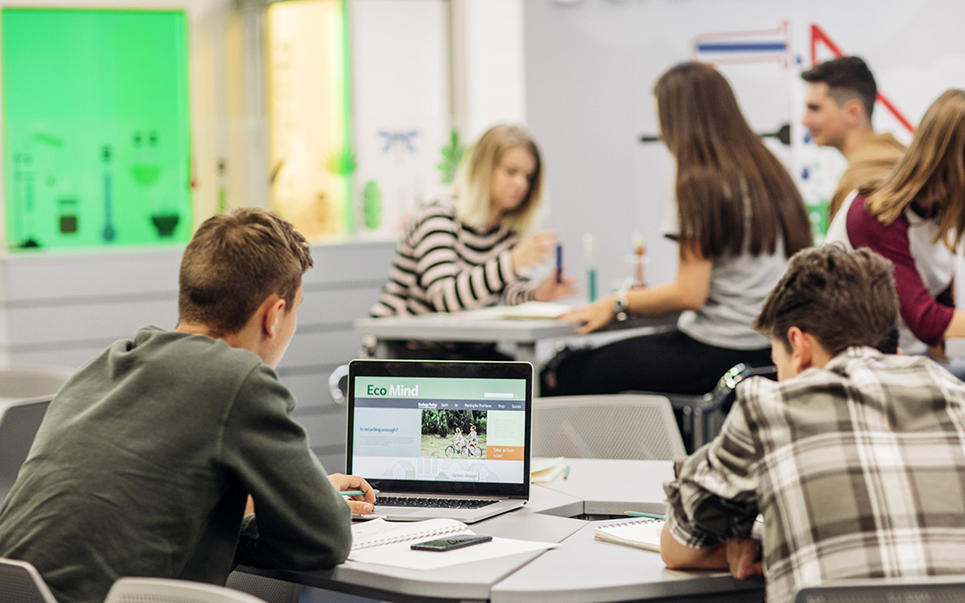 Schüler arbeiten an Laptops (Bild: LStockStudio)