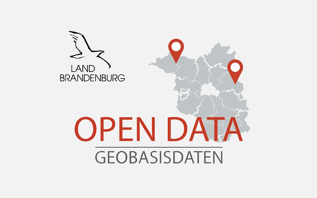 Geobasisdaten und Open Data in Brandenburg (Grafik: Ministerium des Innern und für Kommunales)