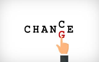 Schriftzug Chance, Change